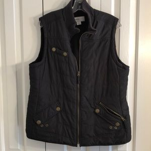 Style and Company size L black waterproof vest